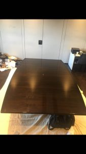 Boardroom table repolished - After