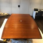 Boardroom table to be refinished - Before