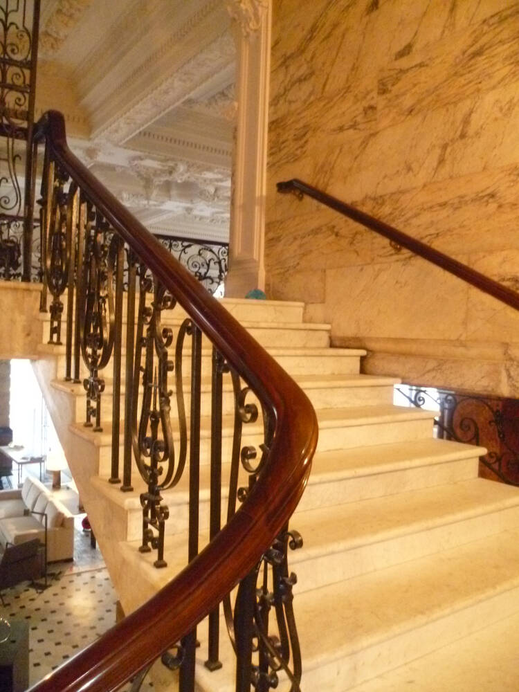 Commercial handrail - Berners Street hotel 2