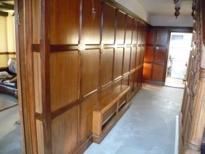 Faded panelling Before