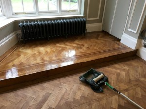 Natural oiled floor, McLeods French Polishers