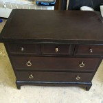 Small chest of drawers - old dark stained finish