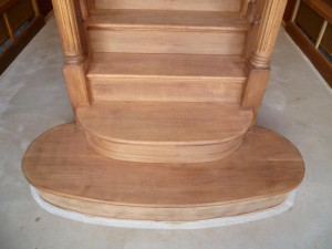 Stair treads - Stripped - During