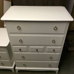 Tall chest of drawers - Refinished in semi gloss white