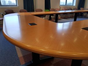 Boardroom table re-sprayed (2)